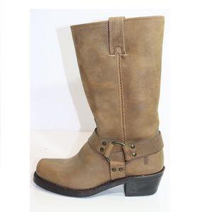 Frye Harness 12R Boots - Tan Womens Size 6.5 M